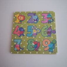 16 részes fa puzzle számokkal