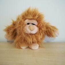 Hosszú szőrű pihe-puha plüss orángután majom