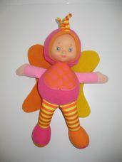Csörgő szárnyú színes tündér baba sípoló hassal