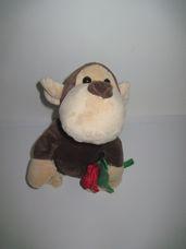 Interaktív Be mine táncoló éneklő majom egy szál virággal