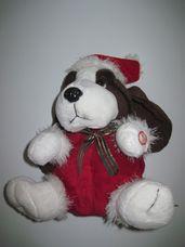 Interaktív éneklő, táncoló karácsonyi plüss nagyfülű kutya
