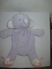 Nagyméretű Humphrey's corner lila plüss elefánt tároló