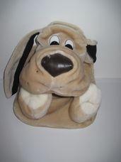 Lógó nagyfülű világosbarna plüss kutya tároló