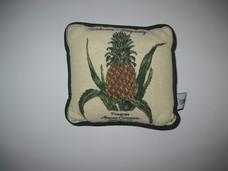 Ananász motívumos kézműves gobelin díszpárna