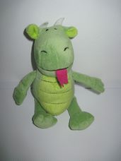 Happy Nappers zöld plüss sárkány hanggal
