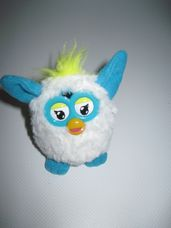 Mini plüss kék fehér Furby figura