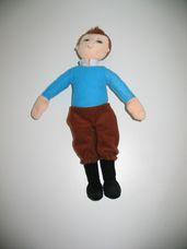 Tintin plüss mesefigura a Tintin kalandjai filmből