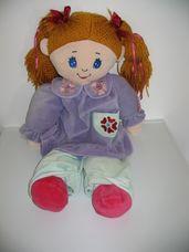 Óriási Belinda bow játszótárs rongybaba pizsamában