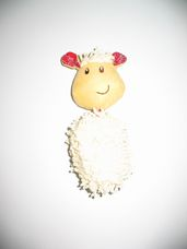 Mothercare zörgő fülű plüss bárányos csörgő