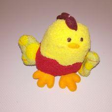 Sípoló csipogó sárga plüss kiscsibe