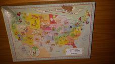 100 darabos Amerikai Egyesült Államok térképe kirakó (puzzle)