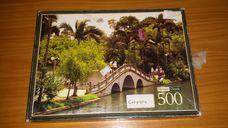 500 darabos pálmafás park híddal kirakó (puzzle)