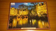 500 darabos éjszakai fények a tóparton kirakó (puzzle)