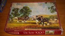 1000 darabos szántóverseny lovakkal kirakó (puzzle)