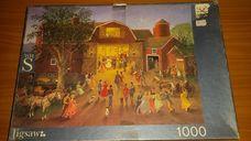 1000 darabos pajta előtti báli forgatag kirakó (puzzle)