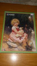 1000 darabos tóparti kislány kacsákkal kirakó (puzzle)