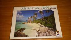 1000 darabos tengerpart pálmafákkal kirakó (puzzle)