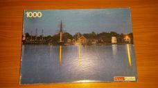 1000 darabos alkonyat a kikötőben kirakó (puzzle)