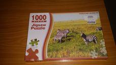 1000 darabos zebrák a szavannán kirakó (puzzle)
