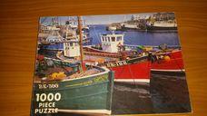 1000 darabos ladikok a kikötőben kirakó (puzzle)
