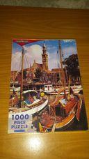 1000 darabos hajók a mólónál kirakó (puzzle)