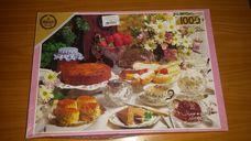 1000 darabos teadélután süteményekkel kirakó (puzzle)