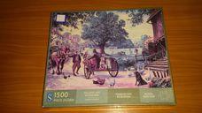 1500 darabos falusi életkép kirakó (puzzle)