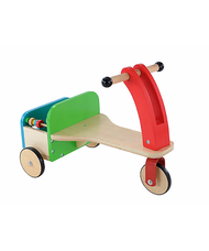 ELC Wooden trike fa tricikli hátsó csomagtartóval