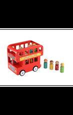 ELC fából készült kétszintes piros londoni busz