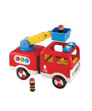ELC Whizz World villogó szirénázó tűzoltóautó figurákkal