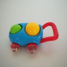 Csörgő dudáló tologatható autó alakú bébijáték