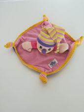 Simba bohócfigurás csomózott sarkú lila szundikendő