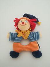 Sterntaler puha plüss bébicsörgő bohóc figurával