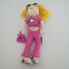 Groovy Chick tapadókorongos baba lila ruhában