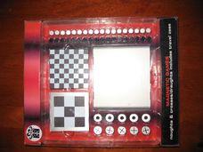 Mágneses játék - checkers és 3x3-as amőba utazó tokkal