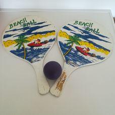 Fa beach ball strandtenisz szett 2 ütővel 1 labdával