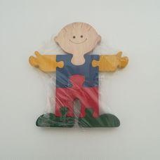 Kisfiú alakú fa kirakós játék 3D puzzle
