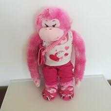 Rózsaszín Build-a-bear majomlány eredeti öltözetben