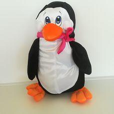 Plüss pingvin rózsaszín sállal