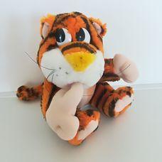 Gondolkodó csíkos plüss tigris