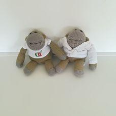 2 darabos horgolt majom szett