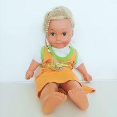 Cititoy puha törzsű hosszú szőke hajú kislány baba