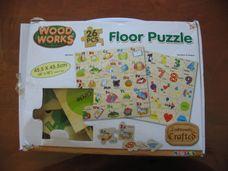 26 darabos fa puzzle - számok és formák