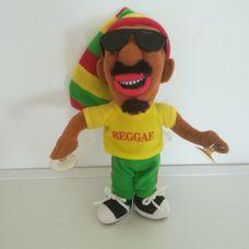 Sötétbőrű rasztafari Reggae fiú rongybaba tapadókoronggal