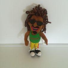 Sötétbőrű rasztafari Jamaica fiú rongybaba tapadókoronggal