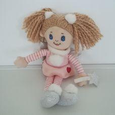 Keel Toys halvány rózsaszín ruhás tündér varázspálcával