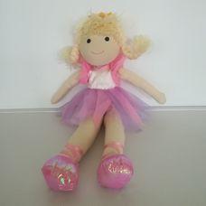 Orange Tree Toys halvány rózsaszín ruhás balerina rongybaba