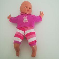 Puha törzsű alvós csecsemő baba pink szettben