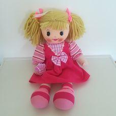 Új címkés Girlie Paws rongybaba rózsaszín ruhában