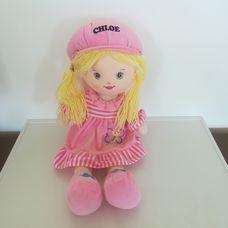 Girlie Paws Chloe szőke rongybaba rózsaszín ruhában